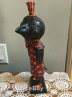 12 Original Debra Schoch Halloween Mr. Raven Paper Mache 2011