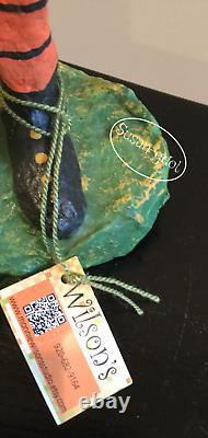 16 Halloween Pumpkin Man signed Original Monnie Wilson papier mache