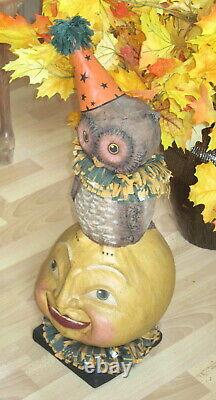 17 Owl On Moon Halloween Stack Bethany Lowe Debra Schoch