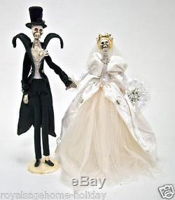 18-584460 Katherine's Collection 17.5 Halloween Bride Groom Skeleton Wedding