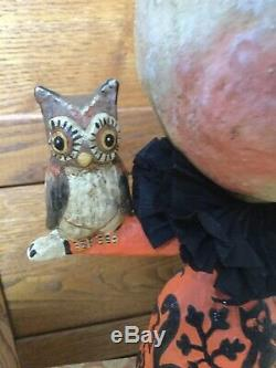 18 Moon girl Holding Owl Debra Schoch By Bethany Lowe Halloween