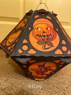 1920s Beistle Vintage Halloween Die Cut Lantern