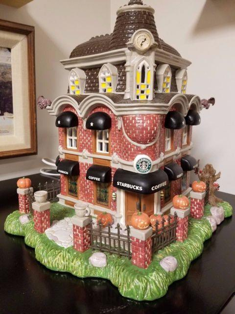1998 Starbucks Lighted Haunted House With Only 500 Made