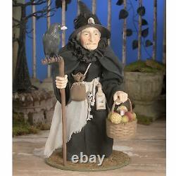 19.5 Bethany Lowe Large Raven Witch Retro Vntg Halloween Decor Figurine