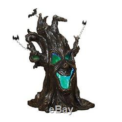 19 Haunted Tree Lights Up Makes Spooky Sounds Halloween Decor New