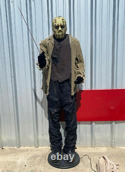 2007 Gemmy JASON VOORHEES Life Size Animated Halloween Figure Spirit NEEDS HELP
