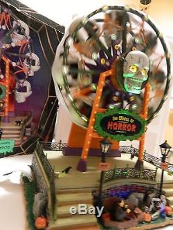 2010 Lemax Spooky Town Wheel Of Horror Light Animated Music Halloween Decor Exc