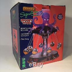 2011 Lemax Spooky Town Octo-Swing #14379 Halloween Carnival Lights Animated