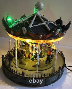 2013 Lemax Spooky Town Merry Scary Go Round Carousel Carnival Halloween