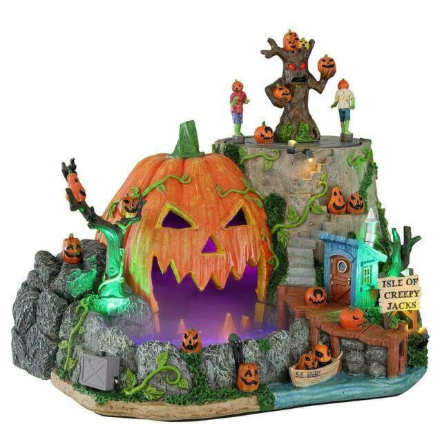 2021 Lemax Spooky Town Isle Of Creepy Jacks New Halloween