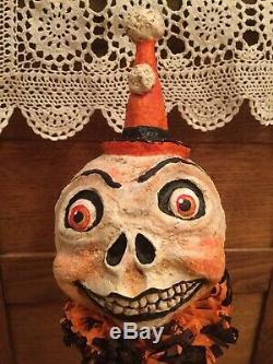 20 Original Debra Schoch Halloween Skeleton Girl paper mache