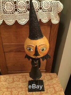 21.5 Original Debra Schoch Halloween Blood Moon Vampire paper mache 2012