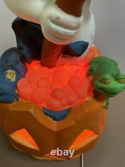 2 1996 Trendmasters Lighted Casper Ghost Pumpkin Halloween Foam Blow Mold READ