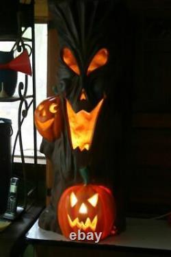 35 Blow Mold Spooky Halloween Tree Light J-O-L Pumpkin