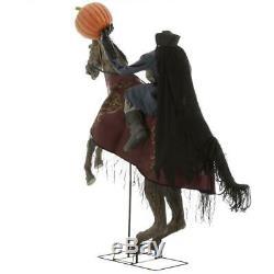7.5 Ft ANIMATED HEADLESS HORSEMAN Halloween Prop HAUNTED HOUSE CEMETARY