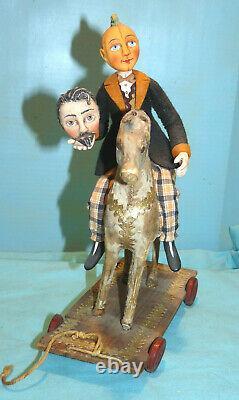Allen Cunningham Halloween Folk Art2010Little Ichabod interchangeable Heads