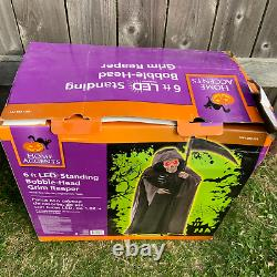 Animated 6ft Life-Size Bobble-Head Grim Reaper with Scythe PAC Halloween 2015
