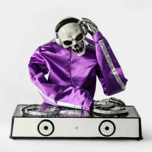 Animated Dj Skeleton Decorative Halloween Prop Hike & Eek Boutique