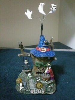 Animated Haunted Tree House Lemax Pumpkin Hollow 2011 Extremely Rare Find