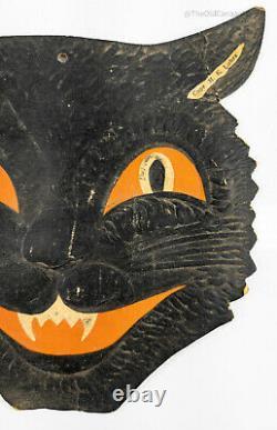 Antique Vintage Cat Halloween Die Cut Decoration H E Luhrs American