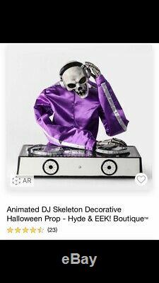 Assembled RARE Hyde & Eek! Target Animated DJ Skeleton Decorative Halloween Prop