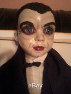 Bela Lugosi Dracula Count Mora Vampire 2' Porcelain Doll Ooak Zombie Prop