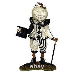 Bethany Lowe 13 Lord Louis Pumpkin Head Man White Clown Halloween Decor Figure