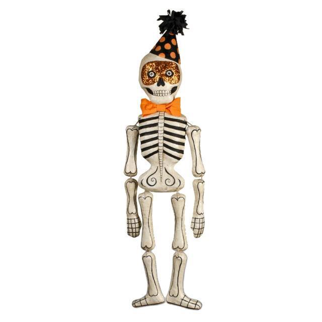 Bethany Lowe 23 Mr Bones Party Skeleton Halloween Retro Vntg Decor Ornament