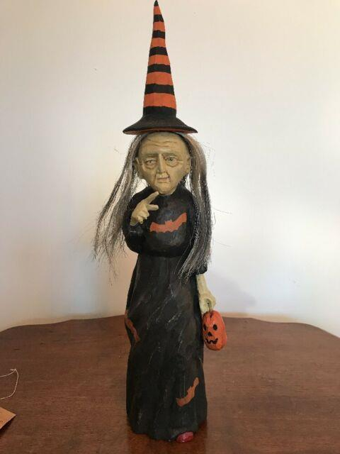 Bethany Lowe Anthony Costanza Captured Carvings Green-faced Witch Retired