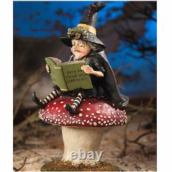 Bethany Lowe Cackle Confidence Garden Witch Mushroom Halloween Figurine Decor