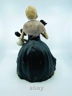 Bethany Lowe Designs Halloween Miss Skeleton on Pumpkin TD9075
