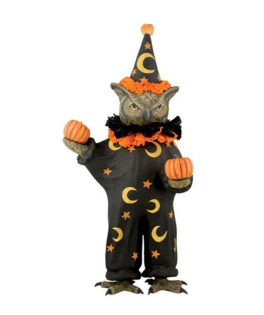 Bethany Lowe Designs Wise Old Sorcerer Owl Halloween