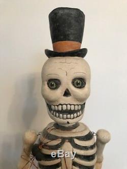 Bethany Lowe Greg Guedel Halloween Beware Skeleton retired