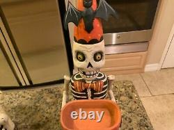 Bethany Lowe Greg Guedel Skeleton Candy Dish