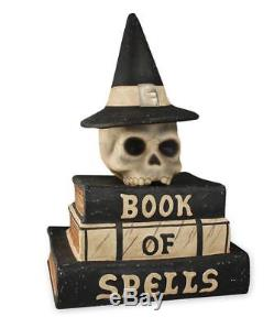 Bethany Lowe Halloween Book of Spells with Witch Skull Brand New