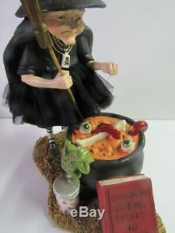 Bethany Lowe Halloween Cauldron Cooking Witch TD9065 New