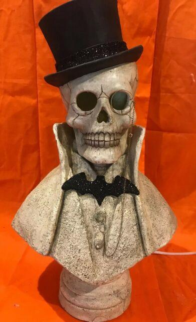 Bethany Lowe Halloween Edgar Bust Withlight Cordsold Out & Retired