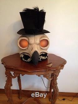 Bethany Lowe Halloween Large Skeleton Owl Container-New