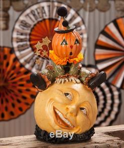 Bethany Lowe Halloween OVER THE MOON JACK O' LANTERN NEW