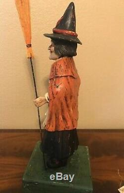 Bethany Lowe Halloween Old Witch with BroomDiscontinued