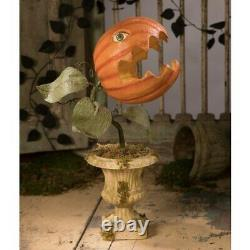 Bethany Lowe Halloween Prickly Pumpkin Plant Large Paper Mache TD8508