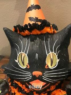 Bethany Lowe Halloween Sassy Cat Black Cat ContainerwithLight Incl. SOLD OUT