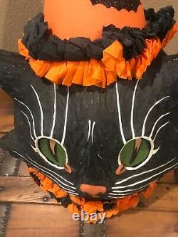 Bethany Lowe Halloween Sassy Cat Black Cat ContainerwithLight Included