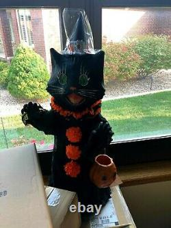 Bethany Lowe Halloween Sassy cat black Scaredy Cat Ghoul over 2 feet tall NWT