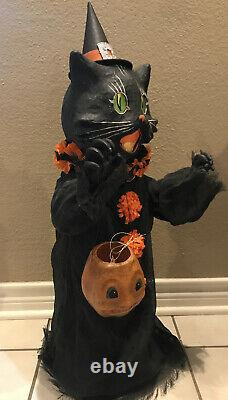 Bethany Lowe Halloween Scaredy Cat Ghoul-withLights Incl