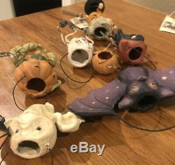 Bethany Lowe Halloween Scott Smith Rucus Studio Set of 6 OrnamentsRareretired