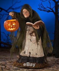 Bethany Lowe Halloween Storybook Witch With Jack O Lantern