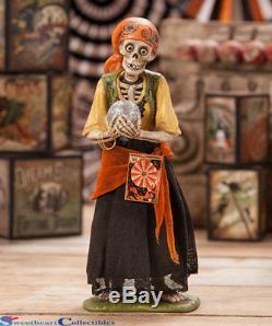 Bethany Lowe Halloween TD7621 Skeleton Gypsy 2018