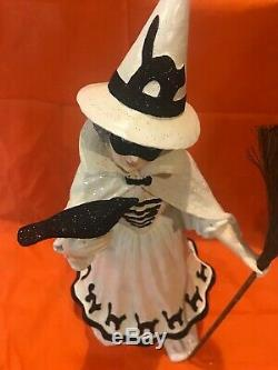 Bethany Lowe Halloween The Good Witch withRaven & Glitter Black Cats SkirtRetired