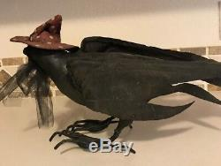 Bethany Lowe Halloween Vergie Lightfoot Crow in Witch HatRareRetired